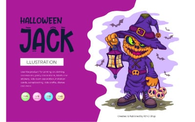 Cartoon Halloween Jack. Vector