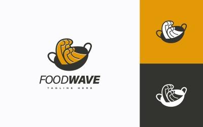 Food Wave Logo Design Concept Vector