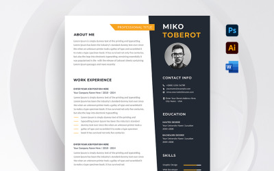 Miko Toberot Resume/CV Template
