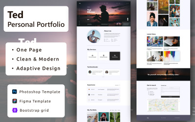 Ted - Personal Portfolio PSD Template