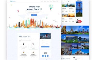 Extravel – Reisbureau One Page UI Elements