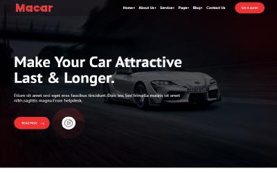 Macar Car Wash And Repair WordPress Theme