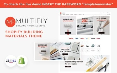 Multifly Construction, Shopify Building Materials Theme