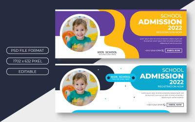 School Admission Cover Banner Design