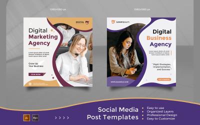 Agence de création d'entreprise numérique - Modèles de publication sur les réseaux sociaux