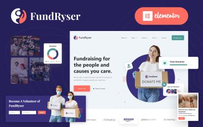 Fundryser - Charity Fundraising Donation Elementor WordPress Theme