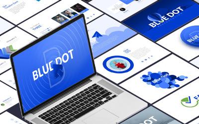 Blue Dot-Business Infographic PowerPoint-presentatie