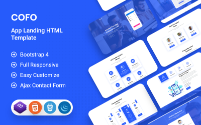 Cofo - App Product Landing Page HTML Template