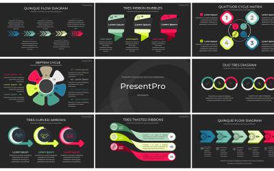 Modern prémium professzionális PowerPoint bemutató - Infographs