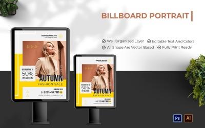 Autumn Fashion Sale Billboard Portrait