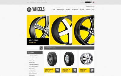 Wheels & Tires ZenCart Template