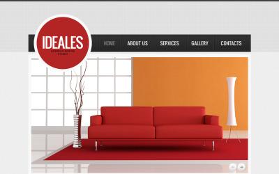 Interiördesign Moto CMS HTML-mall