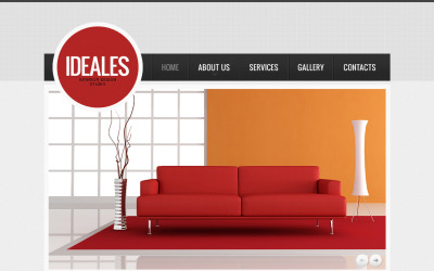 Modelo HTML de Moto CMS de design de interiores