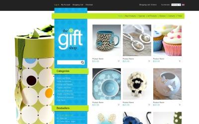 Obchod s dárky ZenCart šablona