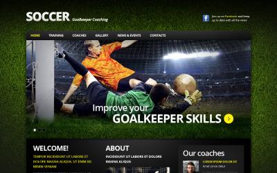 Szablon HTML Soccer Moto CMS