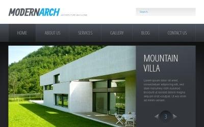 黑白建筑Drupal模板