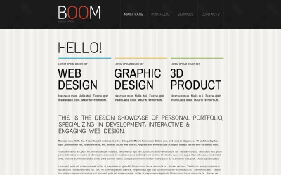 Drupal šablona Creative Design Studio