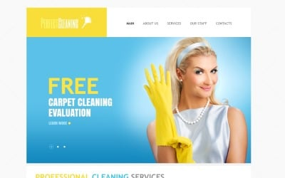 Responsive Cleaning Drupal Template