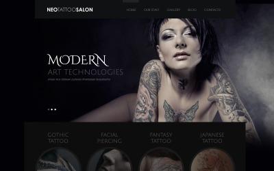Reszponzív tetováló szalon WordPress téma