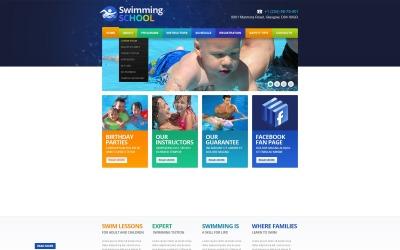 Modello di sito Web reattivo di nuoto