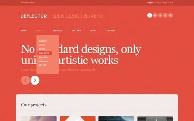 Red Web Design Studio WordPress Theme
