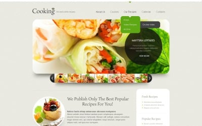 Cooking Responsive Website Template