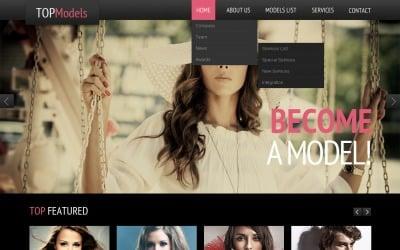 Modelbureau Responsive Website Template