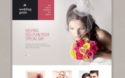 Elegante plantilla de Drupal para planificador de bodas