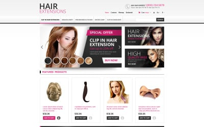 Hair Extensions Store PrestaShop-thema