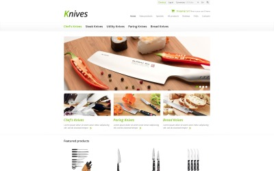 Knives for Your Kitchen ZenCart Template