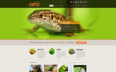 Exotic Pets Moto CMS HTML Template