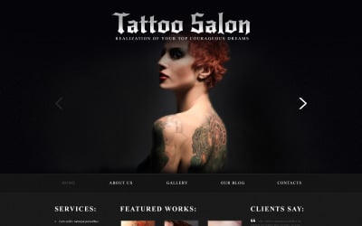 Tattoo Salon Responsive Joomla Template