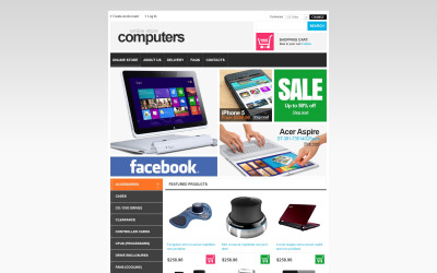 Computers and Components VirtueMart Template
