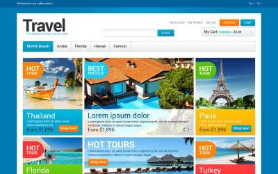 Magento тема для магазина туристического агентства