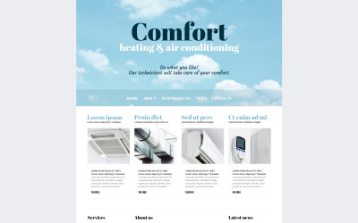 Luftkonditionerings lyhörd Joomla-mall