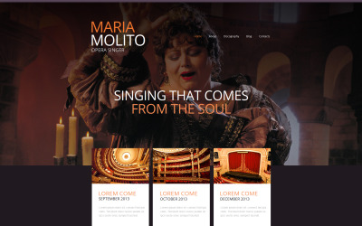 Sänger Moto CMS HTML-Vorlage