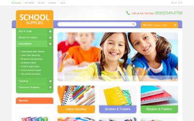 Eğitim Okulu Malzemeleri Magento Teması