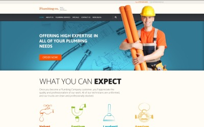 Plumbing Services WordPress Theme