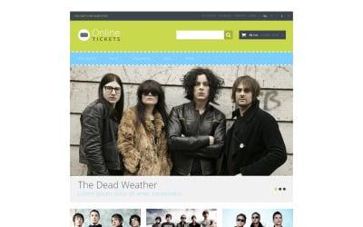 Tickets Website Responsive Magento Theme