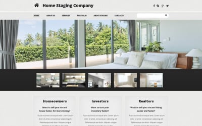 Home Staging Responsive Website Template