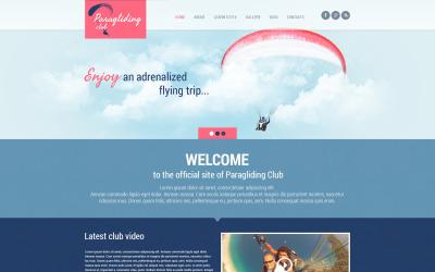 Tema WordPress responsivo para parapente