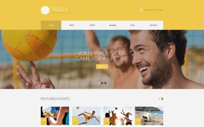 Тема WordPress для клуба пляжного волейбола