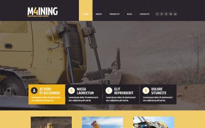 Šablona webových stránek Responzivní těžební společnost