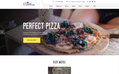 Pizza House Multipage HTML Website Template