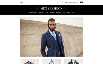 Men's Corporate Fashion Shop PrestaShop Theme