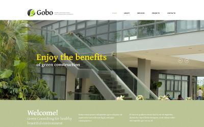 Modello di sito Web reattivo di progettazione del paesaggio