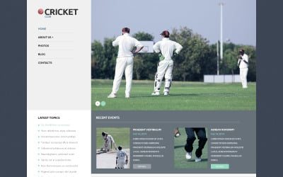 Tema WordPress reattivo di cricket