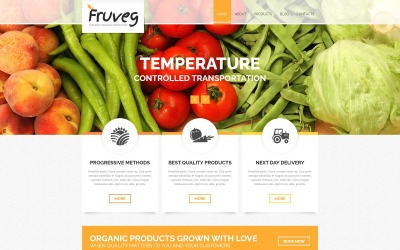 Найкращі органічні продукти Joomla шаблон