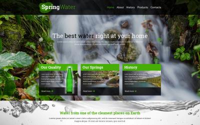Modello di sito Web reattivo all'acqua