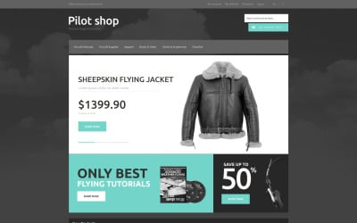 Online Pilot Store Magento Theme